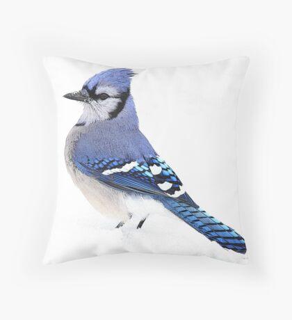 Uplifting Blue Throw Pillow