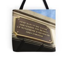 Today you leave the world ... Tote Bag