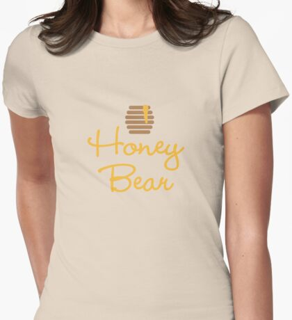 Honey Bear Womens Fitted T-Shirt