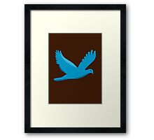 Blue bird flying Framed Print
