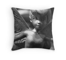 Faith, Trust & Pixie Dust (Black & White) Throw Pillow