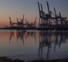 Dawn at Malta Freeport by Patrick Anastasi