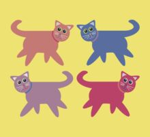 4 Colorful Cats Kids Clothes