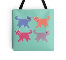 4 Colorful Cats Tote Bag