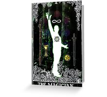 The Magician - a portrait in Tarot  Greeting Card