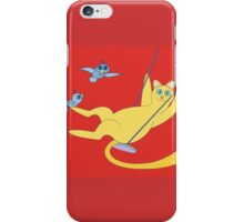 Cat On A Swing iPhone Case/Skin