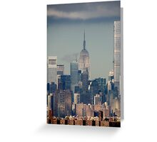 Downtown New York City  Greeting Card