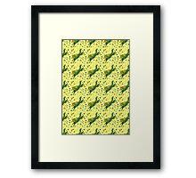 Fern Hound Pattern Framed Print