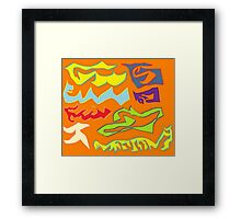 orange fury Framed Print