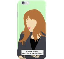 Simple Donna Noble in green iPhone Case/Skin