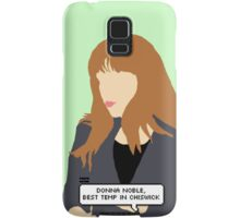 Simple Donna Noble in green Samsung Galaxy Case/Skin