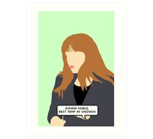 Simple Donna Noble in green Art Print
