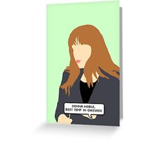 Simple Donna Noble in green Greeting Card