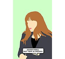 Simple Donna Noble in green Photographic Print