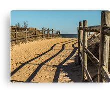 Sandy Footprints Canvas Print