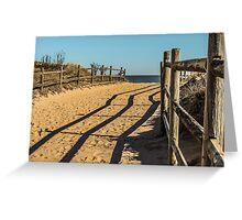 Sandy Footprints Greeting Card