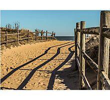 Sandy Footprints Photographic Print