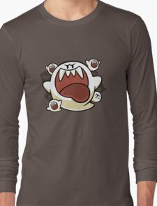 Vintage Super Mario World - Boo Ghost Long Sleeve T-Shirt