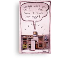 computer menace (ludite prediction) Canvas Print