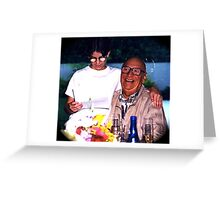 Celebration of life, My father's 80th birthday party Greeting Card