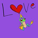 Red-Eyed Tree Frog Love by treasured-gift