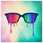 Love Wins! Rainbow - Spectrum (Pride) / Hipster Nerd Glasses by badbugs