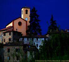 Montecorone, l'antico borgo, la chiesa, Tramonto con temporale in arrivo - giugno 2010 - (zocca modena italy 9 by primo masotti