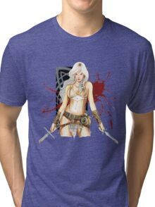 The Barbarian Girl Lagertha Tri-blend T-Shirt