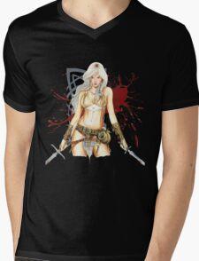 The Barbarian Girl Lagertha Mens V-Neck T-Shirt