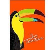I Love Toucan Photographic Print