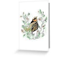 Floral Bird Greeting Card