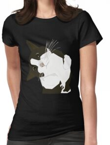 Hello Cat Womens Fitted T-Shirt