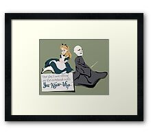 You Know Who Framed Print