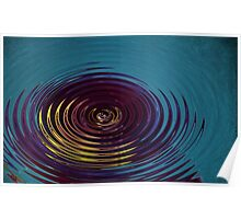 Water Ripple in Teal Poster