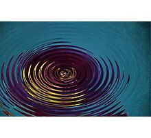 Water Ripple in Teal Photographic Print