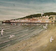 """View from the Old Grand Pier, Weston-Super-Mare, Som."" by Timothy Smith"