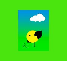Cool chick and cloud by JoAnnFineArt