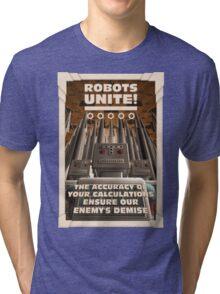 Robots Unite Tri-blend T-Shirt