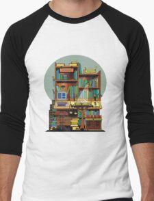 Library Study Men's Baseball ¾ T-Shirt
