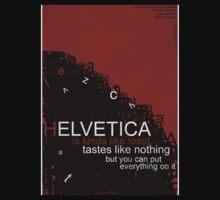 Helvetica Is Kinda Like Toast (Red) One Piece - Short Sleeve
