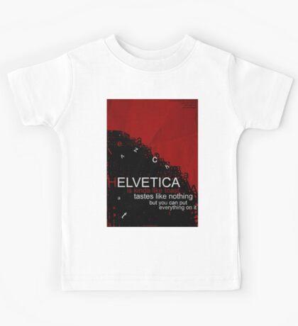 Helvetica Is Kinda Like Toast (Red) Kids Tee