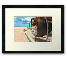 Beach bar in Punta Cana Framed Print