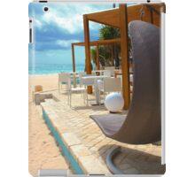 Beach bar in Punta Cana iPad Case/Skin