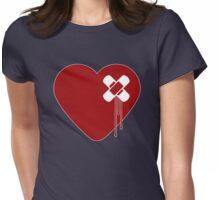 Heart Broken Womens Fitted T-Shirt