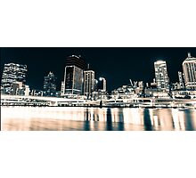 Brisbane City Night Sky Photographic Print