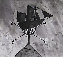 """Ship Aground!"" - Weathervane by Timothy Smith"