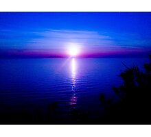 Blue Sunset Photographic Print