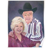 Bill Mack 'The Satellite Cowboy' and his wife 'Sweet Cindy' - A portrait   Poster