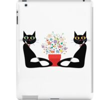 Two Cats With Flowers iPad Case/Skin