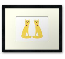 A Pair Of Kitty Cats Framed Print